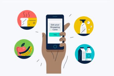 Shopping-Card cellphone